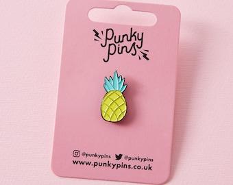 Chunky Pineapple Enamel Pin Badge // Fruit Soft Enamel Lapel Pin/Badge / Pin Game