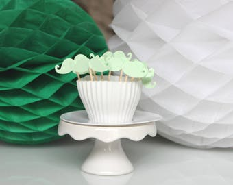 cupcakes (cupcake toppers) water green whiskers 10 toppers