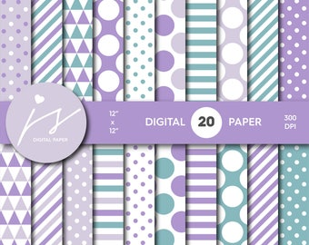 Purple digital paper, Purple scrapbooking, Purple paper, Purple backgrounds, Purple pattern, Purple polka dots, MI-678