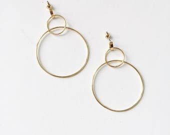 Oversized Double circle earrings