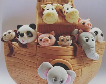 Large Noahs Ark cake  topper - birthday party
