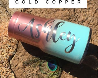 Rose Gold yeti rosegold Ombre Rose Gold RTIC Cup Powder Coated Engraved Unique Gift Anniversary Easter Mothers Day