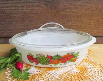 Casserole Dish | Vintage Kitchen | Covered Oven Dish | Bridal Shower Gift | Made in USA