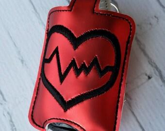 Heart Health Month Heartbeat Heart Hand Sanitizer Holder