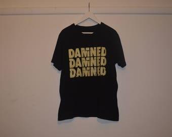 The Damned DAMNED DAMNED DAMNED band t-shirt