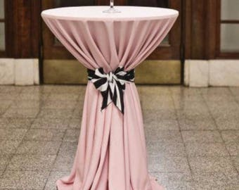 One blush lamour satin tablecloth- Order will be picked up- Needs by 6/10