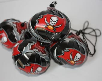 Tampa Bay Buccaneers NFL Ornaments : Single or Set of 5