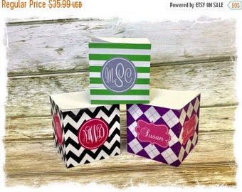 SALE Personalized Sticky Note Cube - Choice of Pattern, Color, Frame, Monogram - Teacher Gift, Office, School Post-it Notes