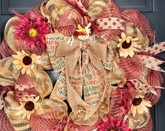 """Decorative Gold Burlap Wreath """"Joyce"""""""