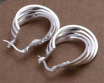 Women 925 sterling silver plated earring