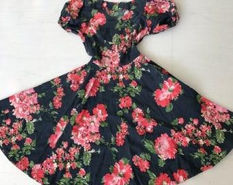 Pretty 1950s Floral Cotton Dress
