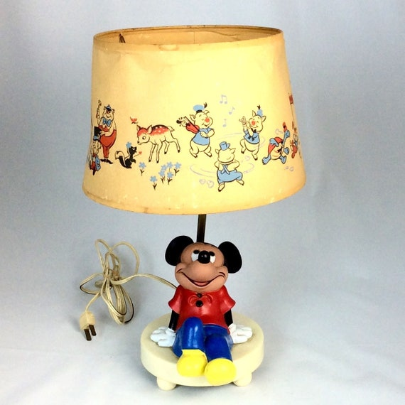 Vintage 1980s mickey mouse lamp and shade like this item aloadofball Gallery
