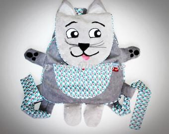 "Adorable cat ""Kitty"" for preschool backpack, nursery, etc..."
