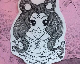 Destroy rape culture sticker