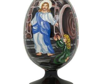 "4.75"" Maria Magdalena Before Jesus Christ Easter Egg Figurine"