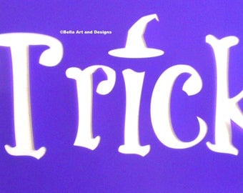 Trick or Treat Halloween Banner Design 1 (set of 3 stencils) *Free gift with every order*