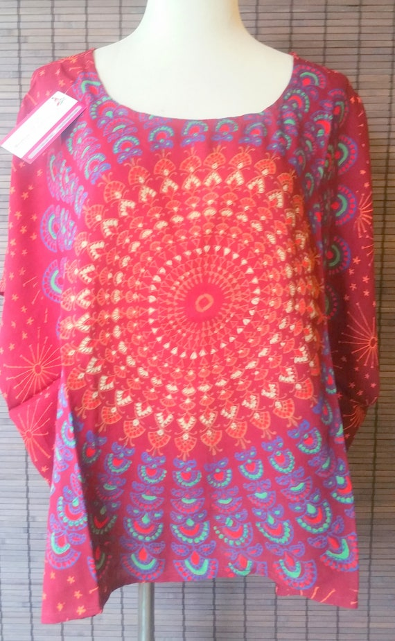 hippie gypsy tunic, gypsy style tunic, loose short tunic, tunic tops loose, loose crop top, bohemian style top, gypsy boho tunic
