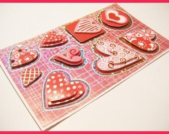 heart sticker stickers for scrapbooking