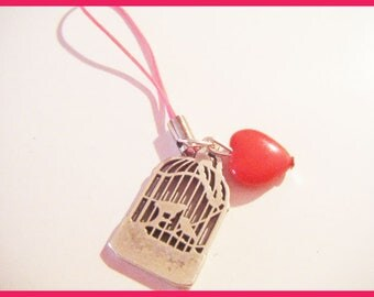 Strap portable birdhouse bird heart jewelry