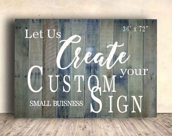 "Office Sign - Office for Wall - Small Business Sign - Office Sign Custom - Office Signage - Extra Large Small Business Sign - 36"" x 72"""