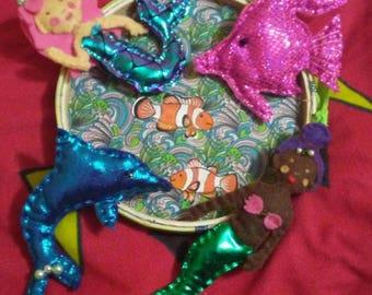 Mermaid baby mobile
