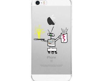Fun Robot iPhone 5/5s/Se, 6/6s, 6/6s Plus Case