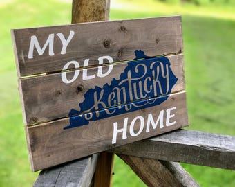 Kentucky Wood Sign , Kentucky Rustic Sign , Kentucky Wall Decor , Kentucky Wall Art