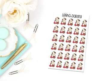 Scooter Pug Planner Stickers