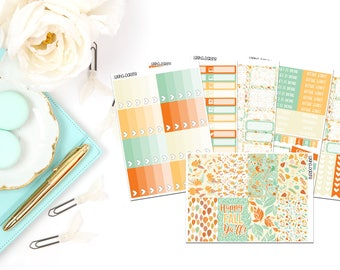 Fall Pumpkin Collection-Happy Planner Stickers