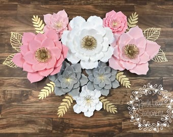 Paper Flower Set of 8