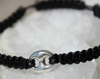 shamballa bracelet with silver beads