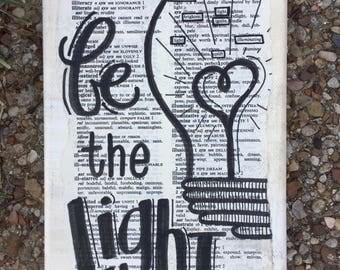 BE THE LIGHT art