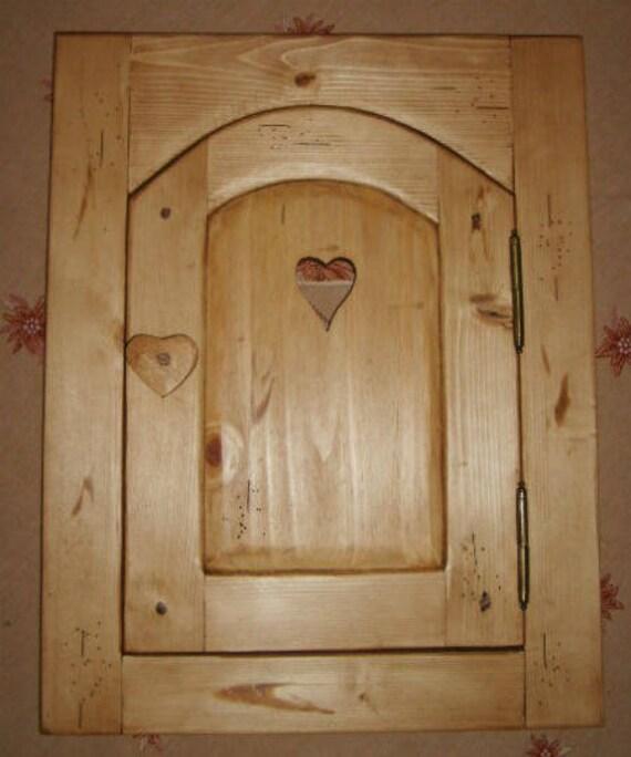 Porte placard artisanale 100 bois epicea deco chalet montagne - Deco porte placard ...