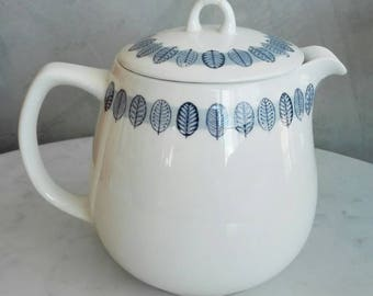 "Arabia Finland ""Linnea"" Pattern Coffeepot with Lid. Designed by Raija Uosikkinen at 1950's."