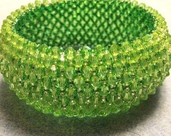 Capricho crystal bracelet in peridot green