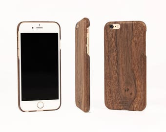 Iphone Wood Case for Iphone 6 | Iphone 7 | Iphone 6 plus | Iphone 7 plus | WOODWE | Real Wood Cover for Iphone 6s | Walnut Iphone Cover
