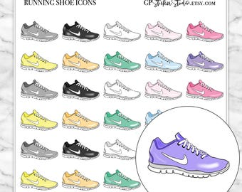 RUNNING SHOES Icon Planner Stickers for your Erin Condren, Happy Planner, Kikki K, Filofax and more!