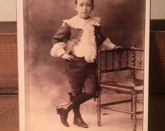 Cabinet Card of a Fiercely Dapper Kid, 19th Century Antique Photo