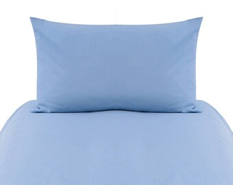 Solid Baby Blue Baby Bedding, Crib Bedding, Toddler Duvet Cover Set, Toddler Bedding, Baby Blue, Toddler Duvet Cover, Kids Bedding