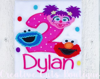 Sesame street and friends personalized birthday shirt
