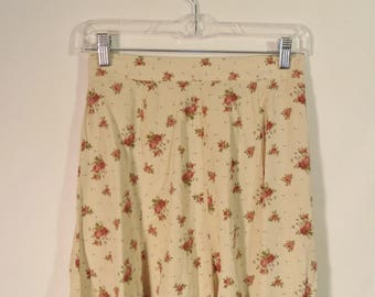 90s Limited high waist skater skirt// Floral soft grunge vintage cottage mini// Size 6 USA small S