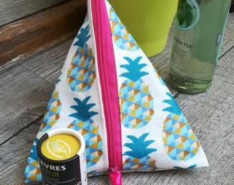 Kit in the shape of a berlingot in cotton, gift idea! Pineapple motif