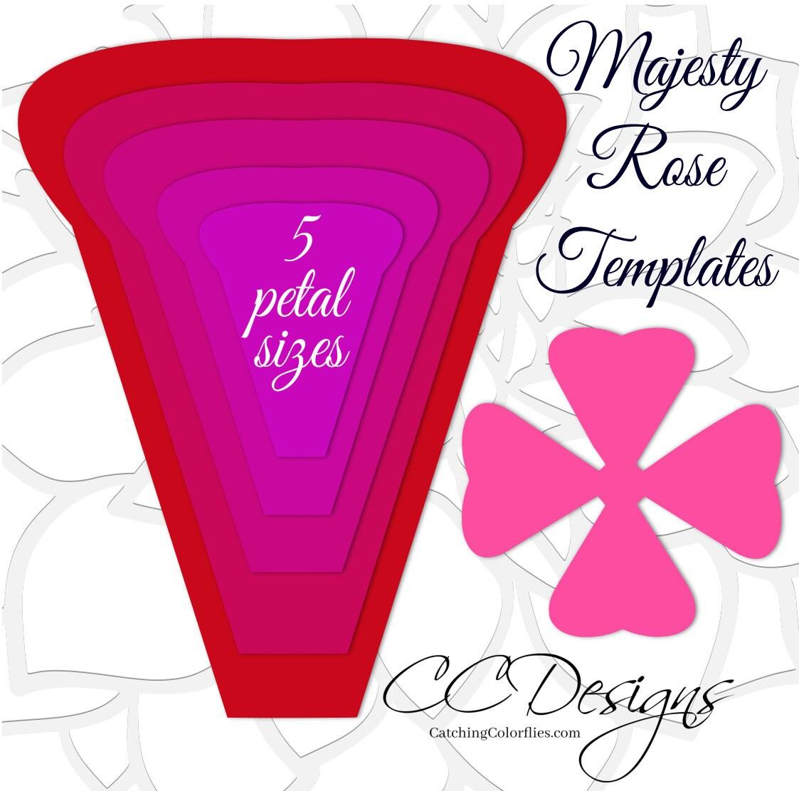 paper rose printable templates printable paper flower templates