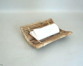 Asian Tray Bamboo Hot Towel Oshibori Boat