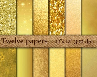 "40% OFF Gold Foil Digital Paper: ""GOLD DIGITAL Paper"" Metallic Gold Digital Paper Gold Paper Gold Backgrounds Digital Gold Foil Paper"