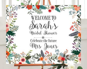 Welcome Sign, Bridal shower, Printable Sign, Custom Wedding Signs, Digital Sign, DIY Wedding Printables