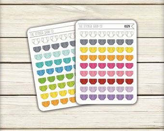 I029 | Diaper Icons [Planner Stickers 54-108MS]