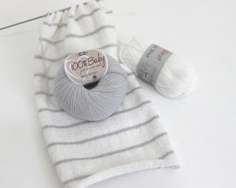 In very good quality cotton baby Merino Wool a chic and contemporary storage basket