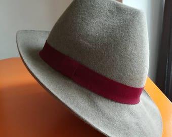 Chapeau mérinos gris