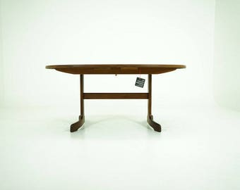 D277 Danish Mid-Century Modern Teak Dining Table Kitchen Fold Out Butterfly Leaves